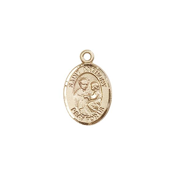 "14KT GOLD ST ANTHONY OF PADUA MEDAL - 1/2"" x 1/4"""