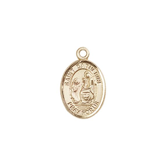 "14KT GOLD ST CATHERINE OF SIENA MEDAL - 1/2"" x 1/4"""
