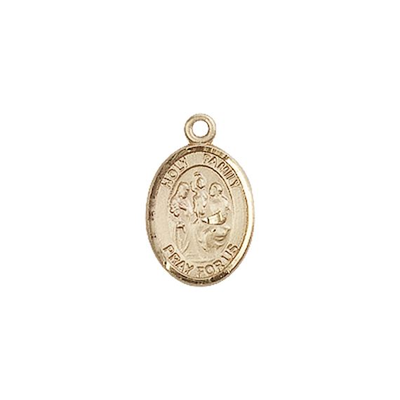 "14KT GOLD HOLY FAMILY MEDAL - 1/2"" x 1/4"""