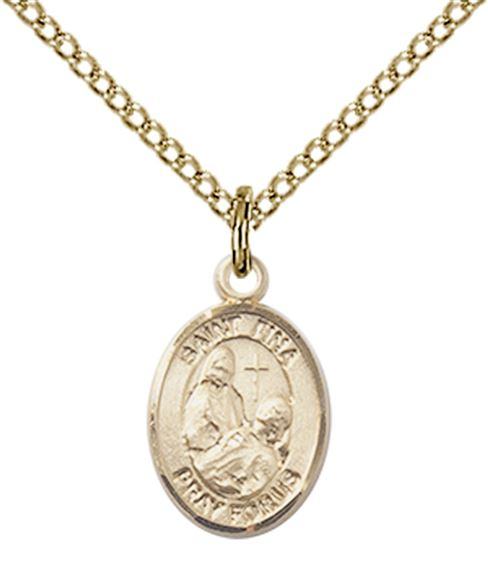"14KT GOLD FILLED ST FINA PENDANT WITH CHAIN - 1/2"" x 1/4"""