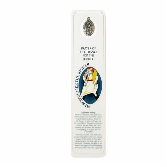 JUBILEE YEAR OF MERCY BOOKMARK WITH MEDAL
