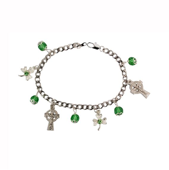 IRISH BRACELET WITH MEDALS AND BEADS