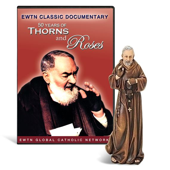 ST. PADRE PIO STATUE AND DVD SET