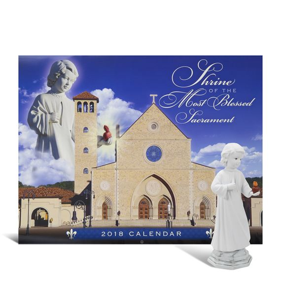 2018 SHRINE CALENDAR & EL DIVINO STATUE SET