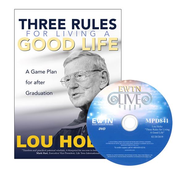 THREE RULES FOR LIVING A GOOD LIFE BOOK & FREE DVD