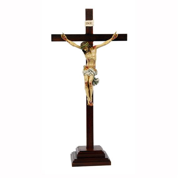 CRUCIFIX ON STAND - 21 INCH