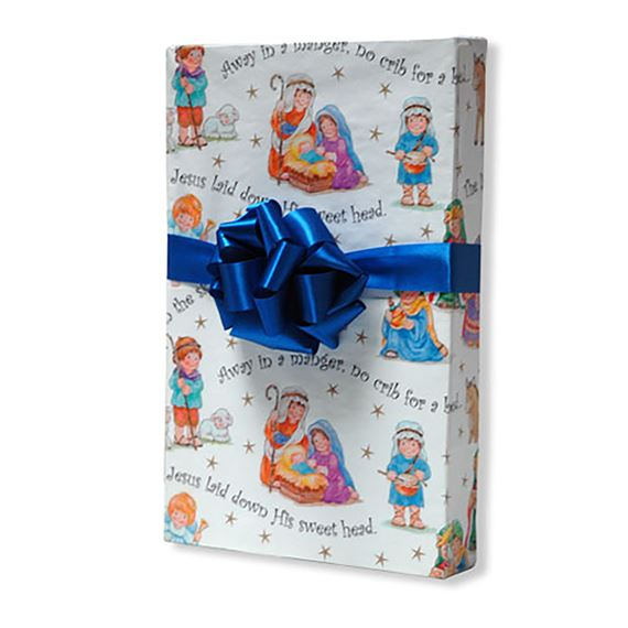 AWAY IN A MANGER GIFT WRAP