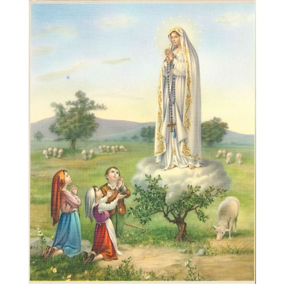 OUR LADY OF FATIMA UNFRAMED PRINT 8 X 10