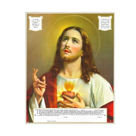 SACRED HEART ENTHRONEMENT -UNFRAMED PRINT (8 X 10)