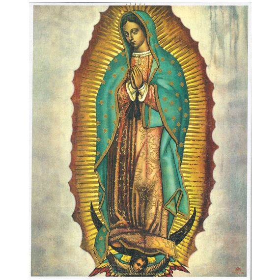 OUR LADY OF GUADALUPE - UNFRAMED PRINT (8 X 10)