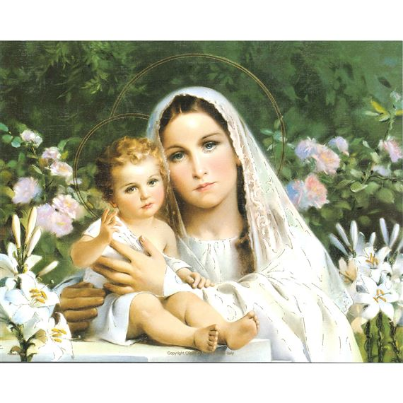 MADONNA OF THE LILIES -  UNFRAMED PRINT 8 X 10