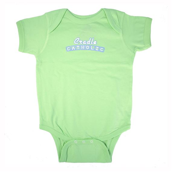 CATHOLIC ONESIE GREEN