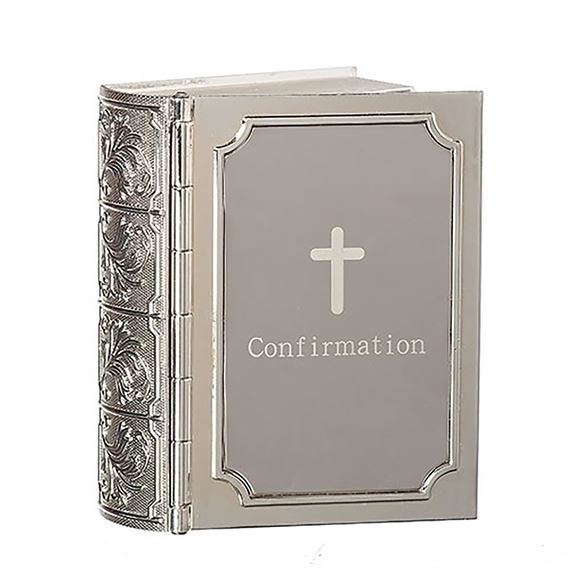 CONFIRMATION BIBLE KEEPSAKE ROSARY BOX