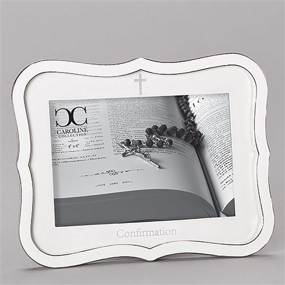 CAROLINE COLLECTION WHITE CONFIRMATION FRAME