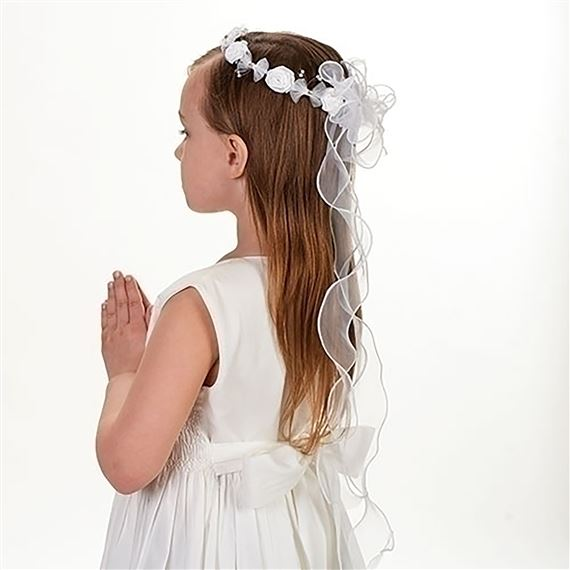 FIRST COMMUNION RIBBON VEIL