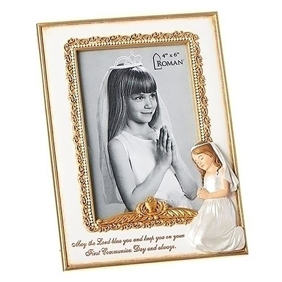 GIRL'S FIRST COMMUNION PHOTO FRAME