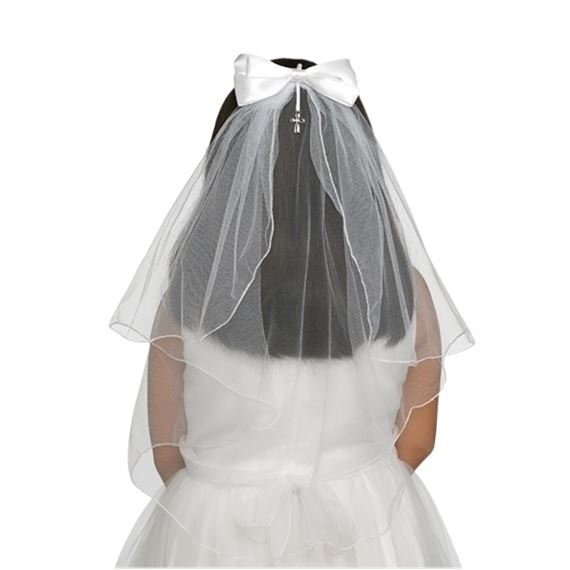 FIRST COMMUNION VEIL WITH BOW