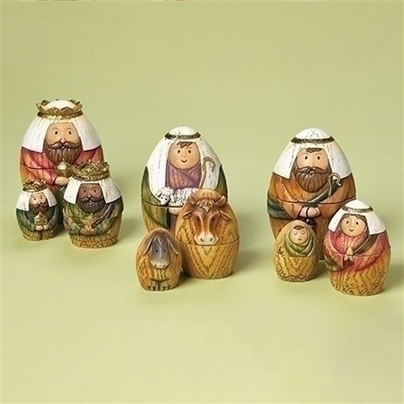 9-PIECE NESTING NATIVITY DOLLS