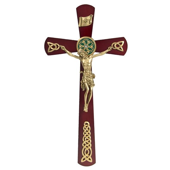 ROSEWOOD CELTIC CRUCIFIX