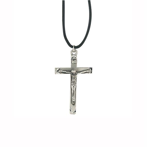 CRUCIFIX ON BLACK CORD