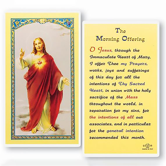 LAMINATED HOLY CARD - MORNING OFFERING