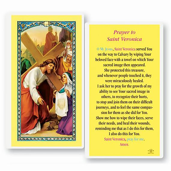 LAMINATED HOLY CARD - ST. VERONICA