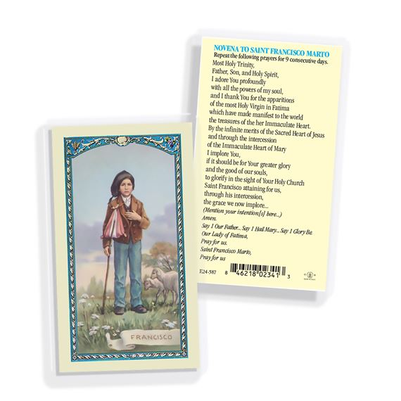 LAMINATED HOLY CARD - SAINT FRANCISCO