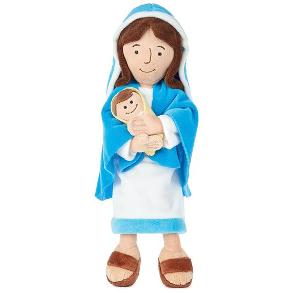 MOTHER MARY & JESUS PLUSH DOLL