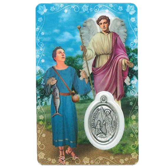 ST. RAPHAEL HOLY CARD WITH MEDAL