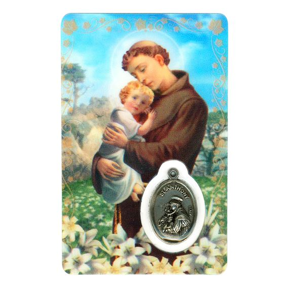 ST. ANTHONY HOLY CARD WITH MEDAL