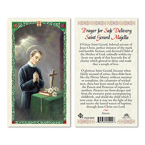 LAMINATED HOLY CARD - ST. GERARD MAJELLA