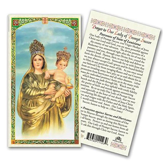 LAMINATED HOLY CARD - OUR LADY OF PROMPT SUCCOR