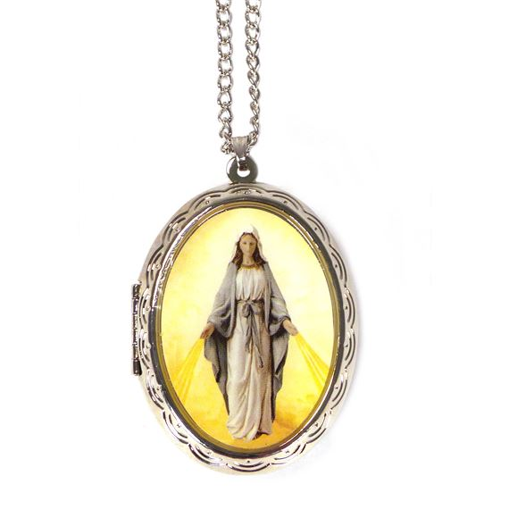 OUR LADY OF GRACE ROSARY LOCKET SET