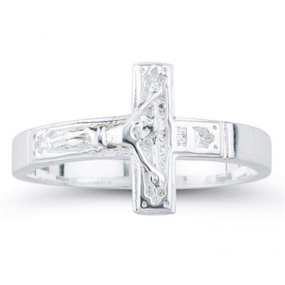 CRUCIFIX RING - STERLING SILVER