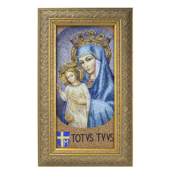 MATER ECCLESIAE WITH TOTUS TUUS FRAMED  (SMALL)