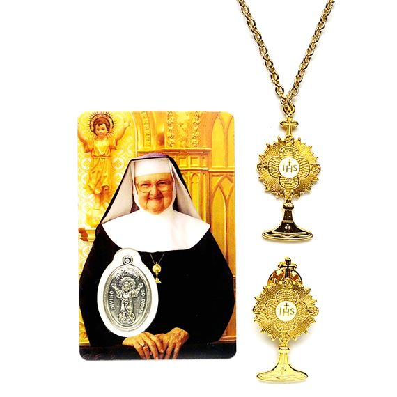 MONSTRANCE PENDANT AND PIN SET