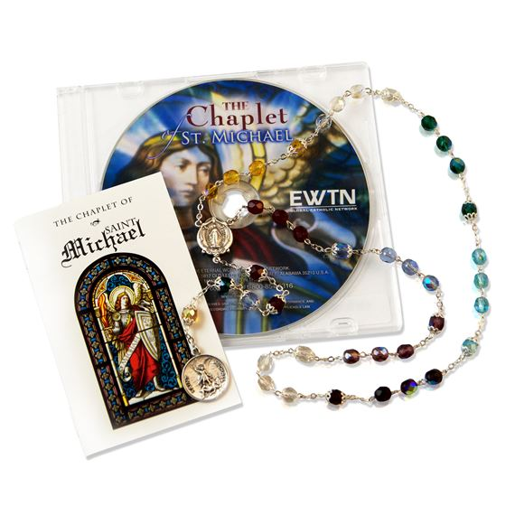 CHAPLET OF ST. MICHAEL BEADS AND CD KIT