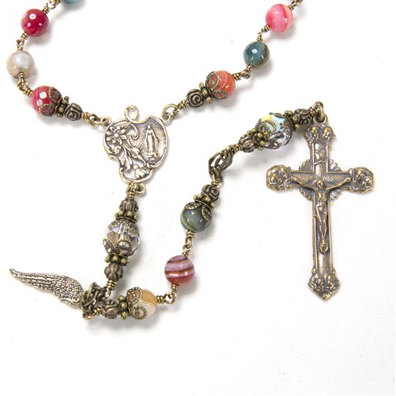 MULTI-COLORED AGATE - HEIRLOOM ROSARY