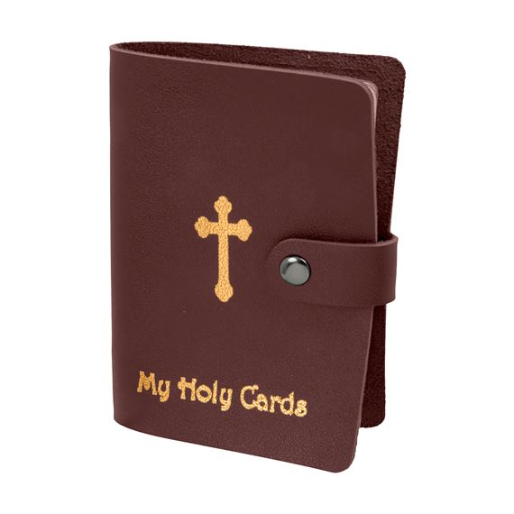 HOLY CARD COLLECTION BOOK - MAROON