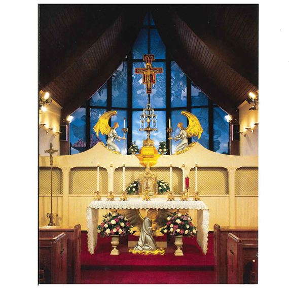 OUR LADY OF THE ANGELS CHAPEL NOTE CARDS (6-PACK)