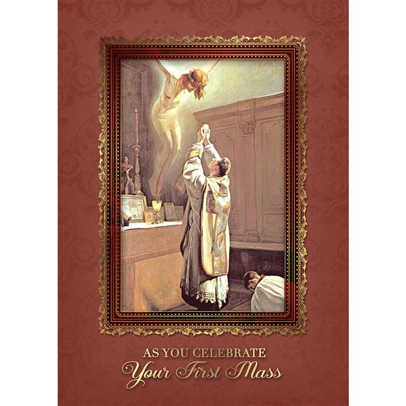 AS YOU CELEBRATE YOUR FIRST MASS CARD