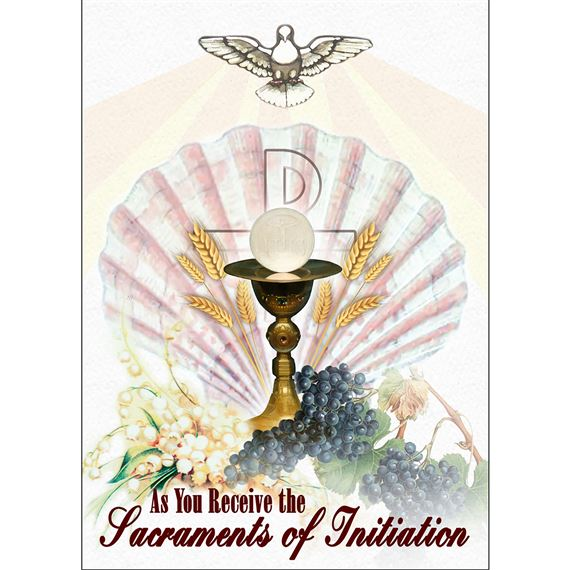 SACRAMENTS OF INITATION CARD