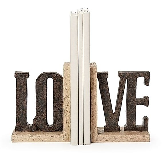 LOVE BOOKENDS (2-PIECE SET)