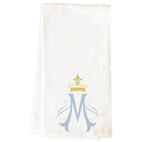 MARIAN SYMBOL WITH CROWN - TEA TOWEL