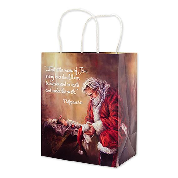 CHRISTMAS GIFT BAG - EVERY KNEE SHALL BOW