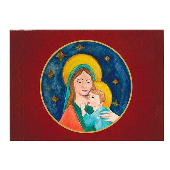 MADONNA AND CHILD CHILDREN'S ROSARY CARDS (BOX OF 25)