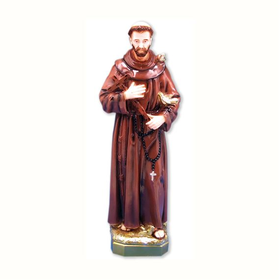 "ST. FRANCIS OUTDOOR STATUE - 24"" COLOR"