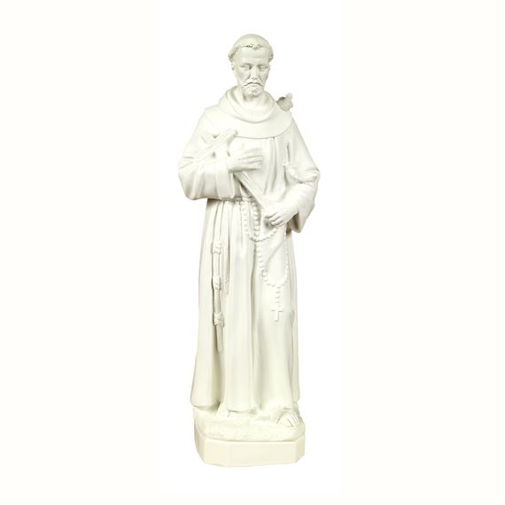 "ST. FRANCIS OUTDOOR STATUE - 24"" WHITE"