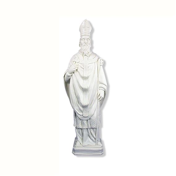 "ST. PATRICK OUTDOOR STATUE - 24"" WHITE"