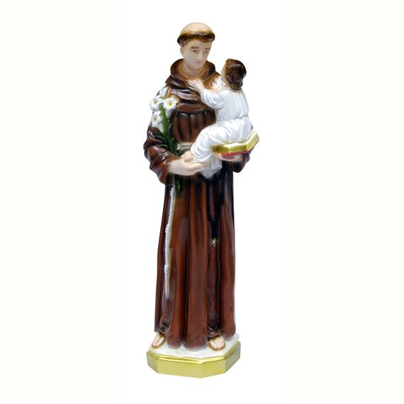 "ST. ANTHONY OUTDOOR STATUE - 24"" COLOR"